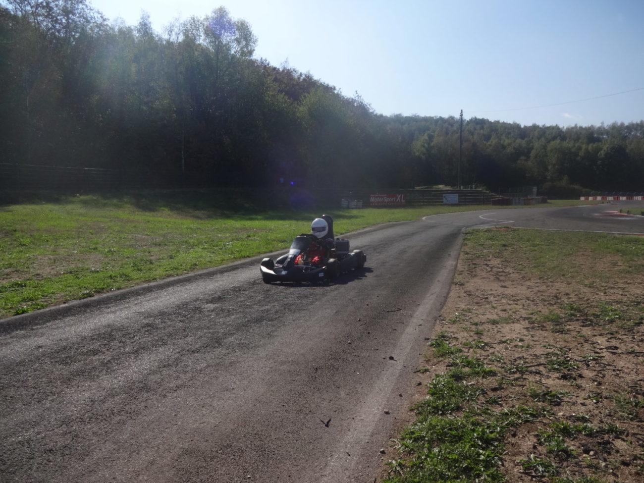 Elias Tittus - Training auf der Kartbahn